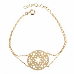 Bracelet en plaqué or, motifs découpés