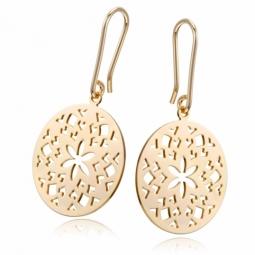 Boucles d'oreilles en plaqué or, motifs découpés