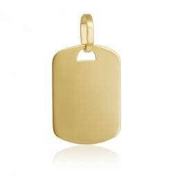 Pendentif en or jaune, plaque rectangulaire