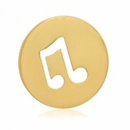 Pendentif en or jaune, note de musique