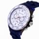 Chronographe homme, boîte en plastique, bracelet silicone et verre minéral - B