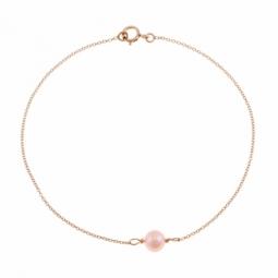 Bracelet en or jaune, perle de culture