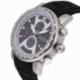 Chronographe homme, boîte acier, bracelet silicone et verre minéral - B