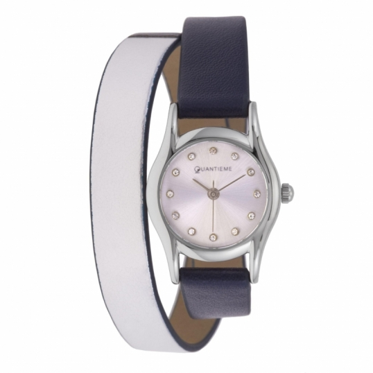 Type de montre  3 aiguilles; Bracelet  Cuir, Gris; Matière  Acier,  Acier, Minéral; Couleur de fond du cadran  Gris; Passant  1 fixe + 1  mobile