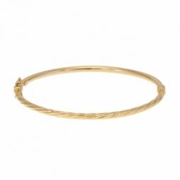 Bracelet jonc ouvrant torsadé en or jaune