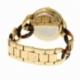 Montre femme, boîte acier doré, bracelet acier doré et résine - C