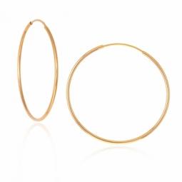 Créoles en or jaune, fil 1 mm, diamètre 30 mm
