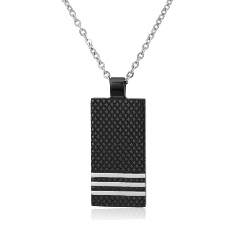collier rectangle homme