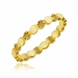 Alliance en or jaune, fantaisie étoiles 2.5  mm