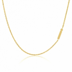Collier en or jaune, lettre I