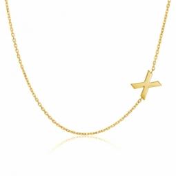 Collier en or jaune, lettre X