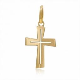 Croix en or jaune ajourée