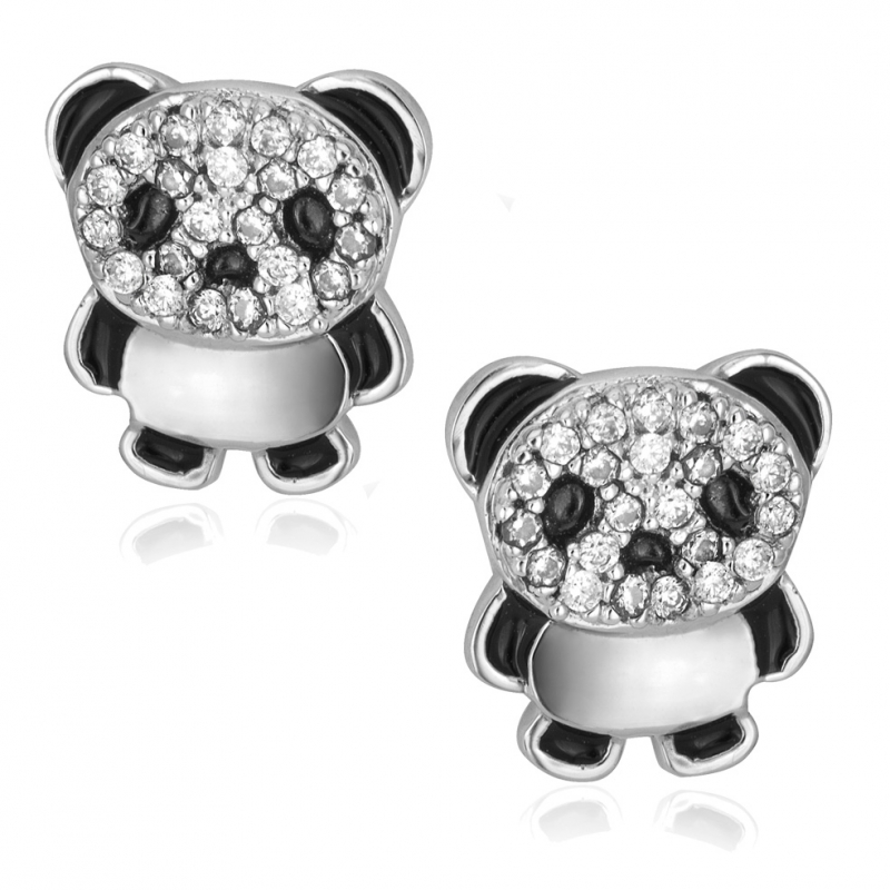 achat boucles d 39 oreilles femme argent rhodi 1 0 g le man ge bijoux. Black Bedroom Furniture Sets. Home Design Ideas