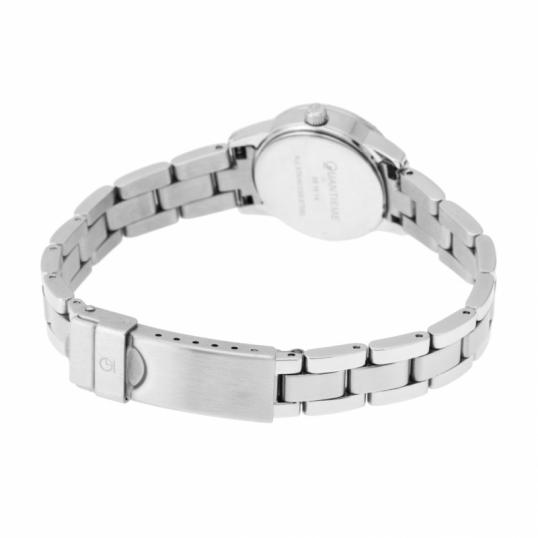 Montre femme, boîte et bracelet en acier et verre minéral