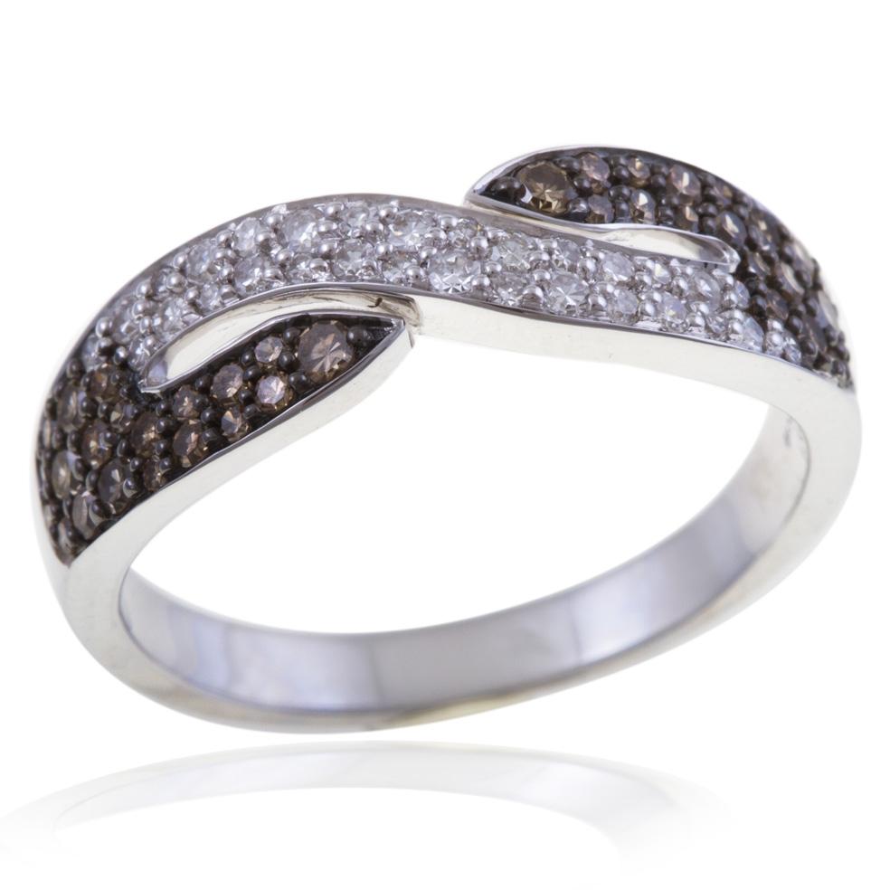 Préférence Achat Bague de fiançailles Femme Or Gris 4.5 g , Diamant 0.24 ct  NW71
