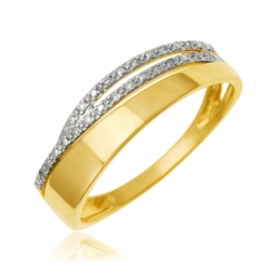 Bague en or jaune et diamants
