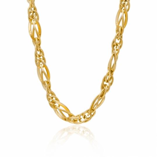 achat collier femme or jaune 13 4 g le man ge bijoux. Black Bedroom Furniture Sets. Home Design Ideas