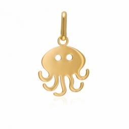 Pendentif en or jaune, pieuvre