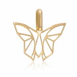 Pendentif en or jaune, papillon ajouré