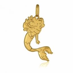 Pendentif en or jaune, sirène