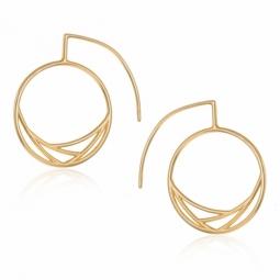 Boucles d'oreille en plaqué or