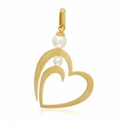Pendentif en or jaune et perles de culture