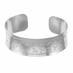 Bracelet jonc en argent rhodié, bélier