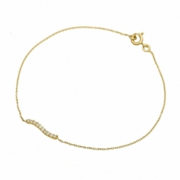 Bracelet en or jaune et diamants