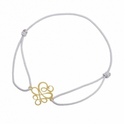 Bracelet cordon en or jaune