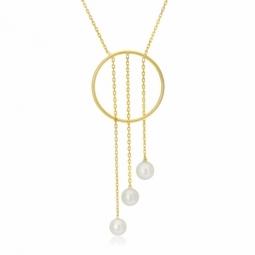 Collier en or jaune et perles de culture