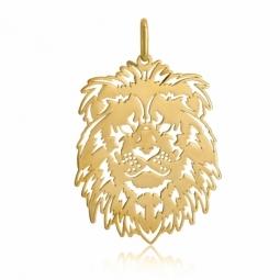 Pendentif en or jaune, lion