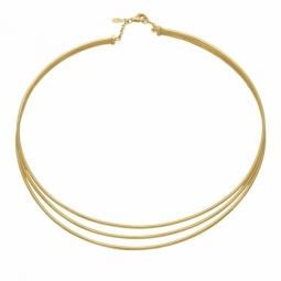 Collier rigide 3 câbles en or jaune