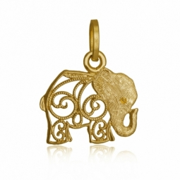 Pendentif en or jaune, éléphant