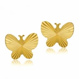 Boucles d'oreilles en or jaune, papillon