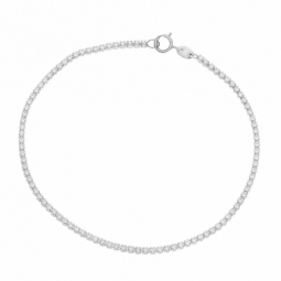 Bracelet en or gris et oxydes de zirconium