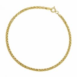 Bracelet or jaune maille palmier