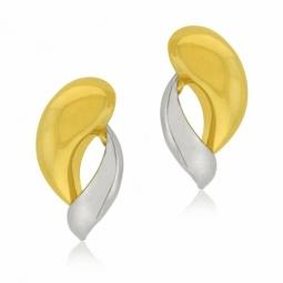 Boucles d'oreilles en 2 ors