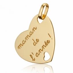 Pendentif coeur maman de l'annee oj
