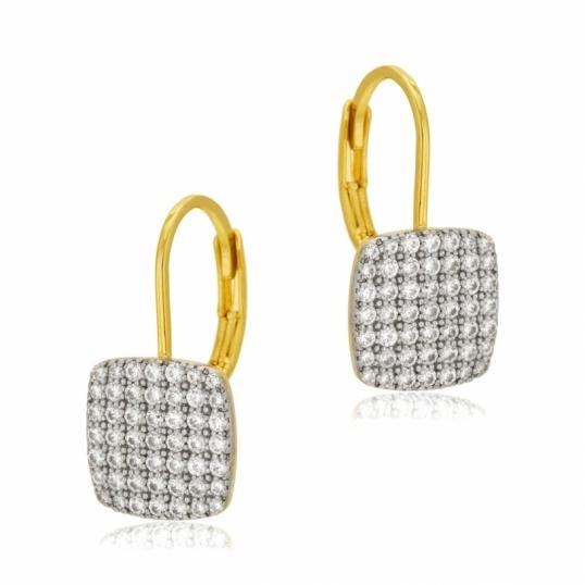 Boucle d'oreille plaque or manege a bijoux