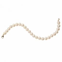 Bracelet en or jaune, perles de culture d'eau douce 5/5,5mm, fermoir mousqueton