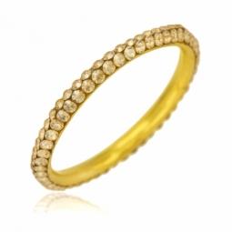 Bague en or jaune et cristaux de synthèse jaunes