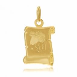 Médaille zodiaque en or jaune, bélier