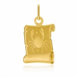 Médaille zodiaque en or jaune, cancer