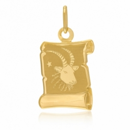 Médaille zodiaque en or jaune, capricorne