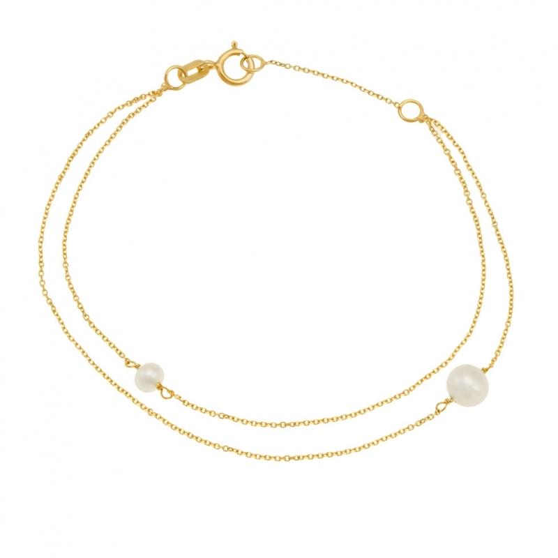 bracelet femme perle or