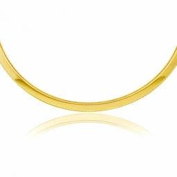 Collier câble rigide en or jaune
