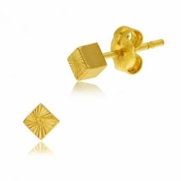Boucles d'oreilles en or jaune, facetées