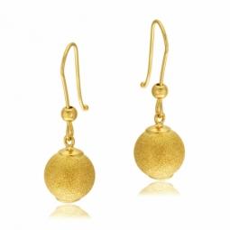 Boucles d'oreilles en or jaune, boule