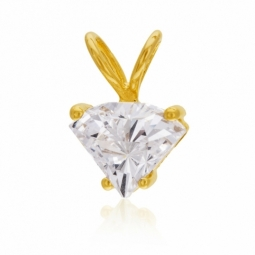 Pendentif en or jaune, oxyde de zirconium