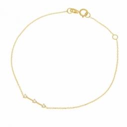 Bracelet en or jaune, oxydes de zirconium